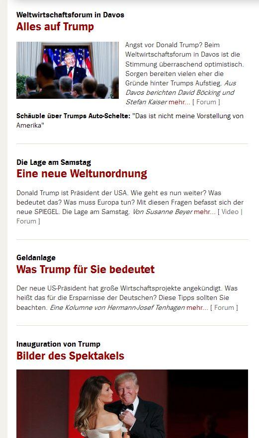 spiegel.de vom 21. Januar 2017