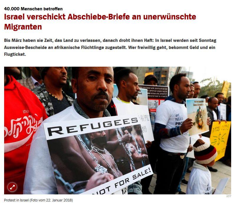 Spiegel Online vom 4. Februar 2018 (allein diesen Artikel hier zu verlinken ist schon Antisemitismus!)