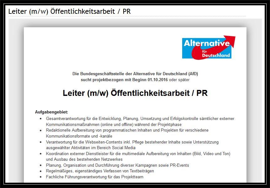 Anzeige auf stepstone.de vom 18. August 2016