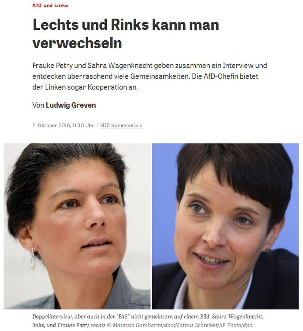 zeit.de vom 2. Oktober 2016