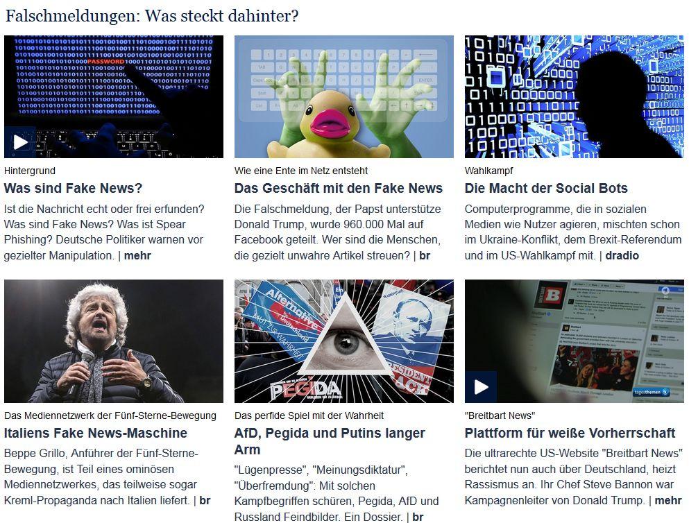 Das große ARD-Fake-News-Special (ohne Link)