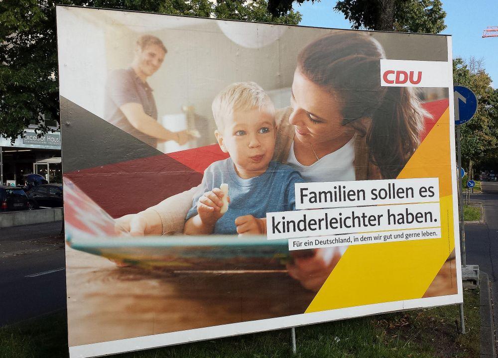 CDU-Plakat zu den Bundestagswahlen 2017