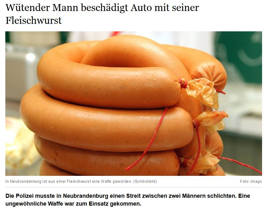 Aufklärung ist Wurst! (Berliner Morgenpost vom 15. August 2016)