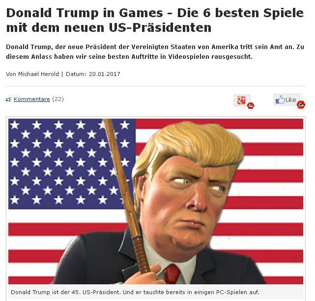 Und alle wollen sie etwas vom SEO-Clickbait-Kuchen abhaben. Hier: gamestar.de vom 20. Januar 2017