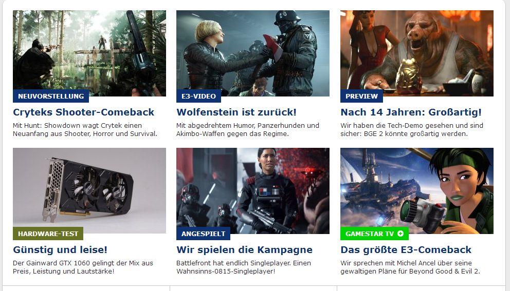 Titelseite von gamestar.de vom 15. Juni 2017