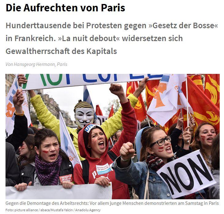Junge Welt vom 11. April 2014
