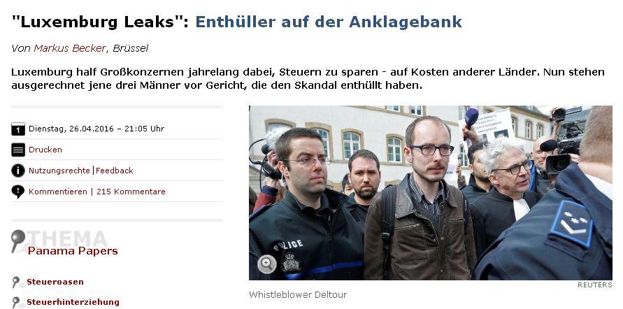 Spiegel Online vom 26. April 2016
