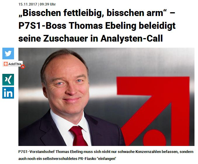 meedia.de vom 15. November 2017
