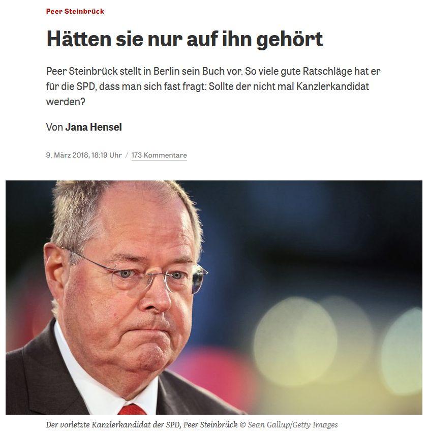 zeit.de vom 9. März 2018