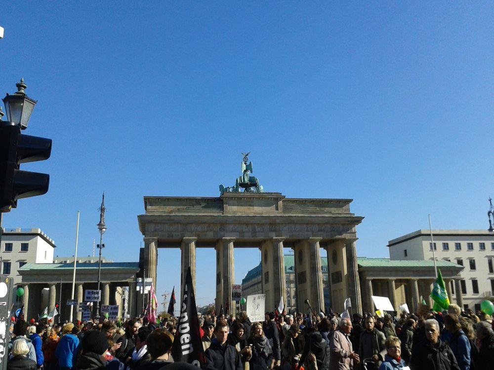 Opfer von Populisten? TTIP-Demonstranten am 10. Oktober 2015