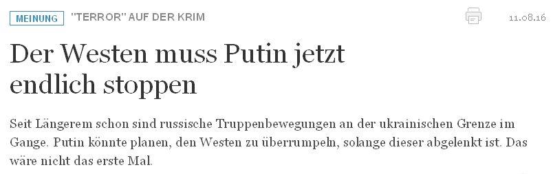 welt.de vom 11. August 2016