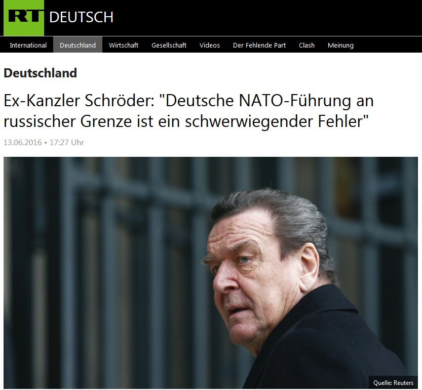 RT Deutsch vom 13. Juni 2016