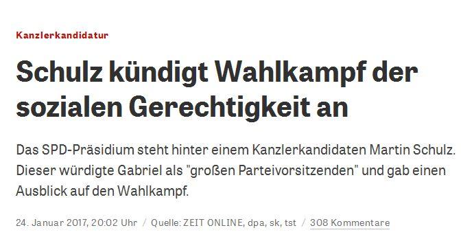 zeit.de vom 24. Januar 2017