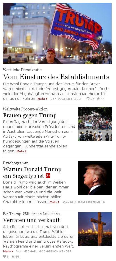faz.net vom 21. Januar 2017