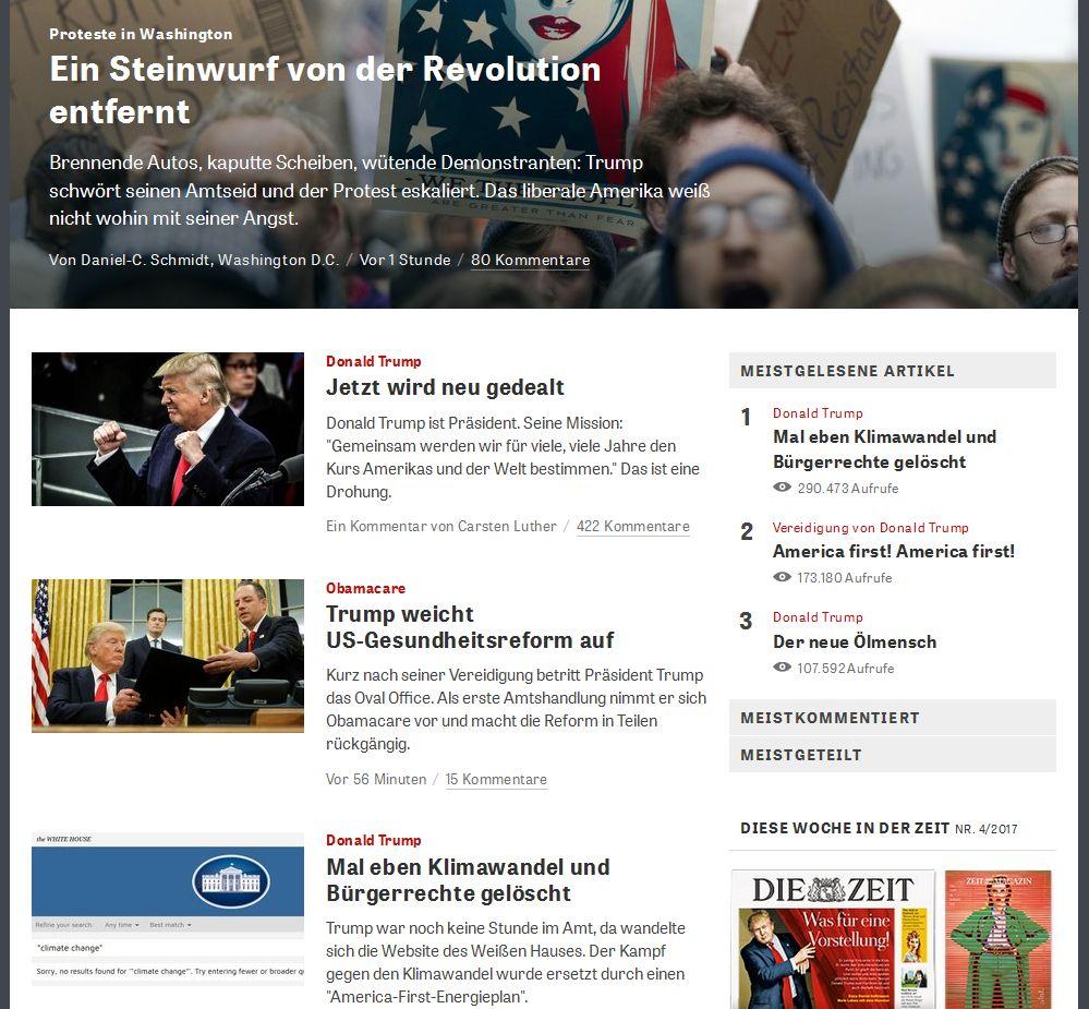 zeit.de vom 21. Januar 2017