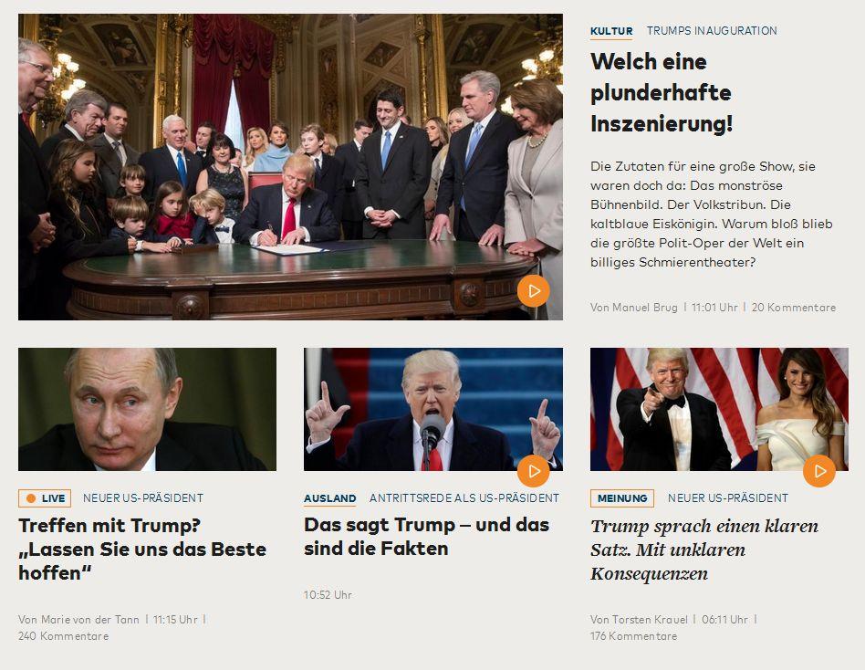 welt.de vom 21. Januar 2017