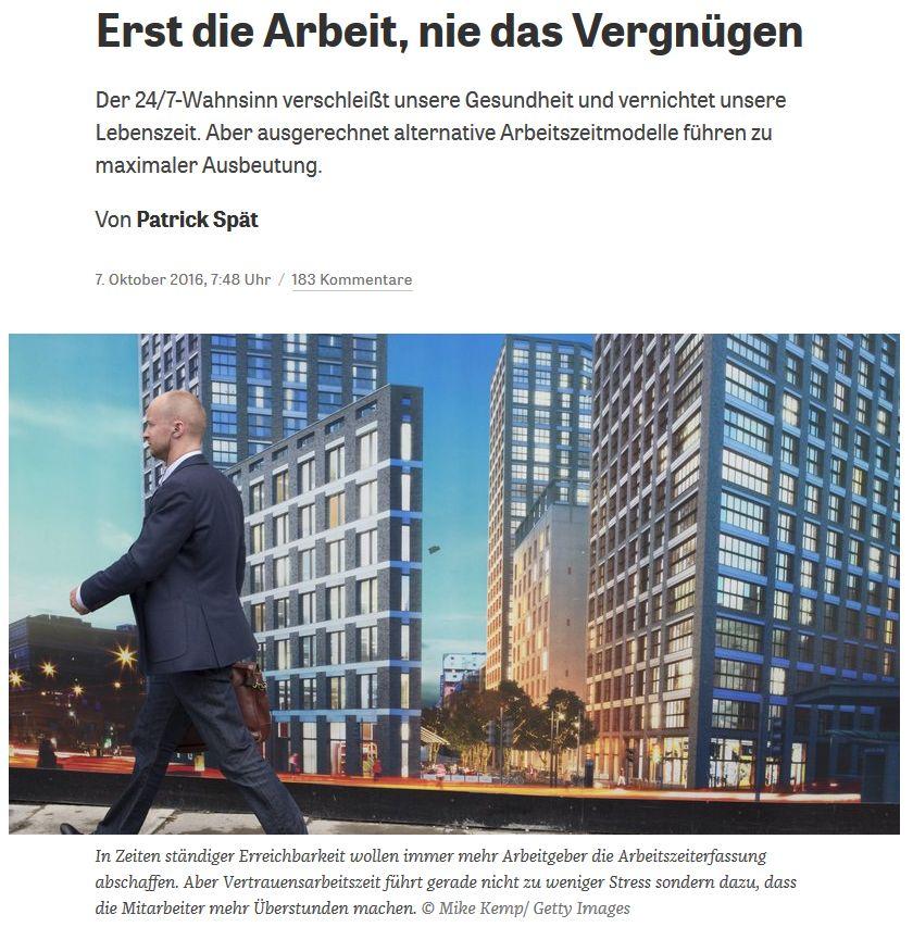 zeit.de vom 7. Oktober 2016