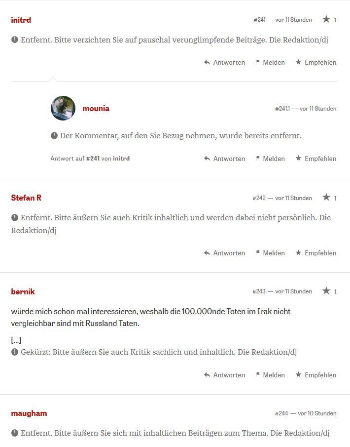 """""""Ja, wir Journalisten haben Russland unfair behandelt"""" (mehr als 900 Kommentare; viele zensiert). Kolumne von Jochen Bittner. Zeit.de vom 13. Oktober 2016"""